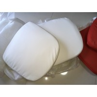 Replacement Cushions for Pod Egg Chair in White color and PU leather