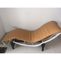 Cushion And Straps For Le Corbusier Lc4 Chaise Lounge Chair In Tan Pu Leather