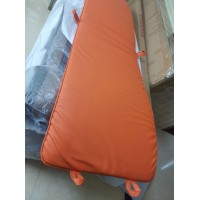 Cushion And Straps For Le Corbusier Lc4 Chaise Lounge Chair In Orange Pu Leather