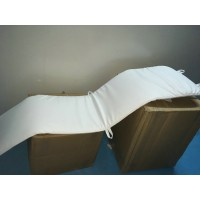 Repair Replacement Cushion for Le Corbusier LC4 Chaise Lounge Chair in White Italian Leather