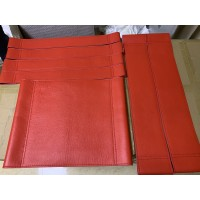 Repair Replacement Straps And Cushion For Wassily Kandinsky Chair In Red Italian Leather And Bonded Leather