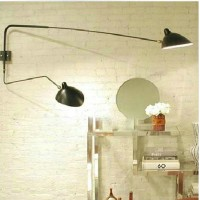 Serge Mouille Style Two-Arm Wall Lamp Reproduction Lightings