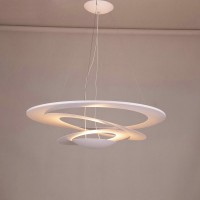 Artemide Style Pirce Suspension Pendant Lamp in Extra Large size with a downward spiral design