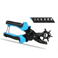 Advanced Leather Punch Plier Strap Hole Punch Tool (6 round holes)