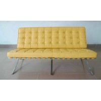 Barcelona style Loveseat Two Seaters Sofa in PU Leather
