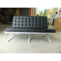 Black Barcelona Loveseat Two Seaters Sofa