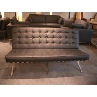 Black Barcelona Three Seaters Sofa