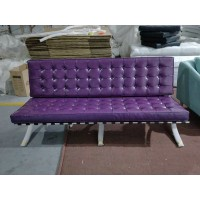 Barcelona Three Seaters Sofa in purple color