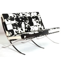 Cowhide Barcelona style Three Seaters Sofa