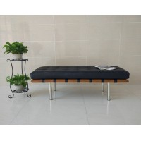 Barcelona Short Bench in stainless steel frame