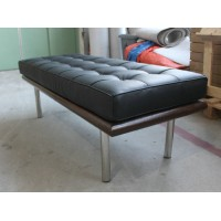 Barcelona Long Bench in stainless steel frame