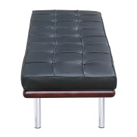 Barcelona Style Bench In Top Grain Leather