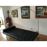 Black Barcelona Daybed with Stainless steel frame