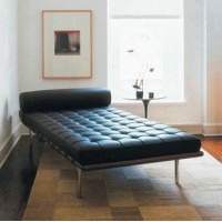 Barcelona style Daybed in Full Grain Leather