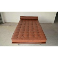 Barcelona style Daybed in Full Aniline Leather