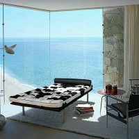 Cowhide Barcelona style Daybed