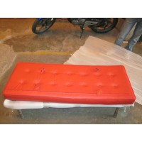 Red Barcelona Bench Cushion Of 132Cm Two Seaters Bench Cushion