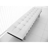 White Barcelona Long Bench Cushion Three Seaters Bench Cushion 198Cm