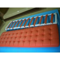 Orange Barcelona Long Bench Cushion Three Seaters Bench Cushion 198Cm