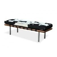 Cowhide Leather Barcelona Bench Cushion With No Piping