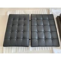 Black Barcelona Chair Cushions In Pu Leather