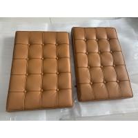 Dark Tan Barcelona Chair Cushions In PU Leather