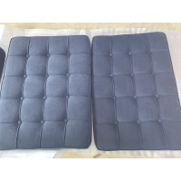Dark Grey Fabric Barcelona Chair Cushions