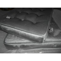 Silver Grey Velvet Barcelona Chair Cushions