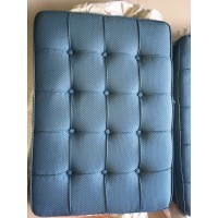Blue Rhombic Fabric Barcelona Chair Cushions