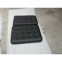 Black Barcelona Chair Cushions In Standard Grade