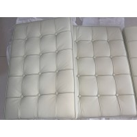 Off White Barcelona Chair Cushions in standard grade