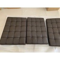 Chocolate Brown Barcelona Chair Cushions in standard grade