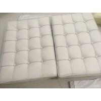 Off White Barcelona Chair Cushions in higher grade