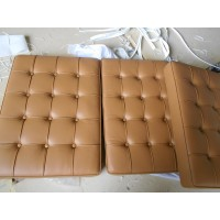 Dark Tan Barcelona Chair Cushions In Higher Grade