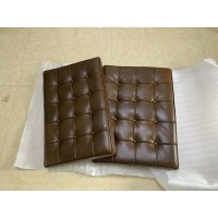 Barcelona Chair Cushions And Straps In Coffee Brown Full Aniline Leather