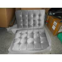 Silver Grey Fabric Barcelona Chair