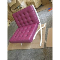 Purple Barcelona Chair with Ottoman