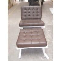 Chocolate Brown Barcelona Chair With Ottoman