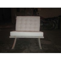 White Barcelona Chair
