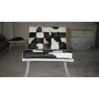 Cowhide Barcelona Style Chair