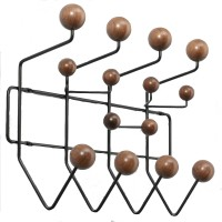Eames Style Hang It All In Walnut With Black Steel