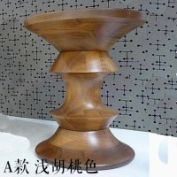 Eames Style Walnut Stool Of Style A