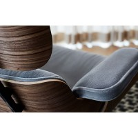 Charles Eames lounge chair and ottoman in ponyskin leather with Chestnut plywood
