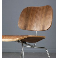 Eames Style LCM plywood dining Chair in Rosewood