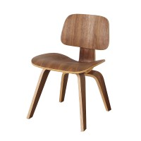 Eames Style DCW plywood dining Chair in walnut