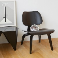 Eames Style LCW plywood dining Chair in Black Color Ash