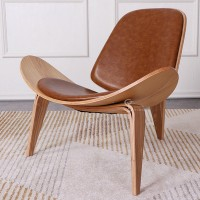 Hans Wegner Style Three Legged Shell Chair