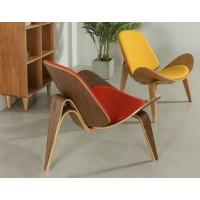 Hans Wegner style Three Legged Shell Chair in Fabric