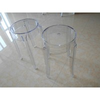 Kartell Style Ghost Bar Stool,small size in transparent clear color